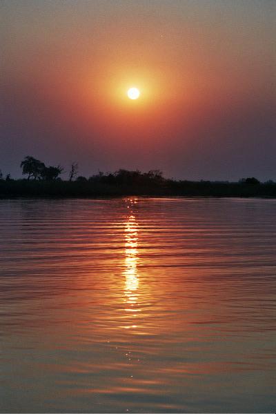 Sunset, Okovango Delta, Botswana, Africa