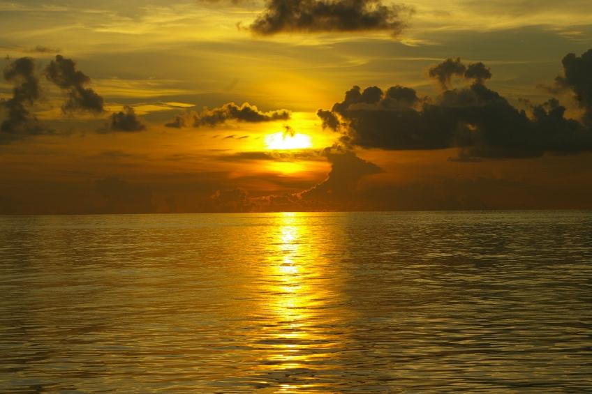 Sunset, Maldives
