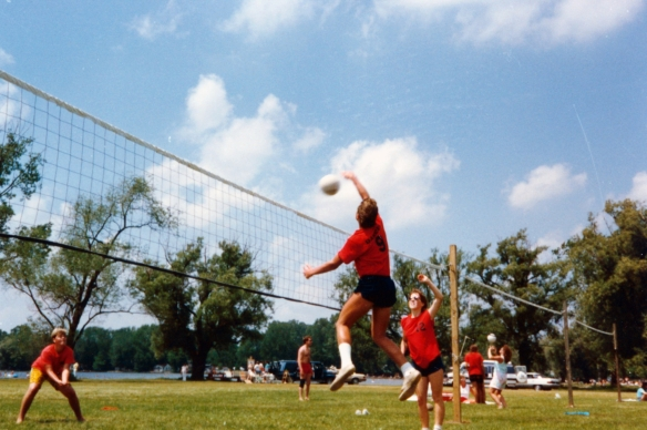 Summer Volleyball, Jackson, MI 1989
